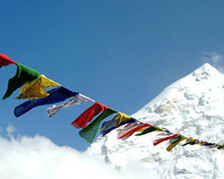 photo of tibetan prayer flags